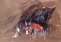 In the dragon cave , c.1880, ryabushkin