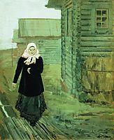 In a Village. Going to Liturgy, 1903, ryabushkin