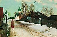 Mikhailovsky Street in Novgorod, 1899, ryabushkin