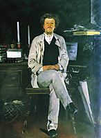 Portrait of I. F. Tyumenev , 1886, ryabushkin