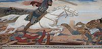 Prince Ukhtomsky in the Battle with Tartars at Volga in 1469, 1904, ryabushkin