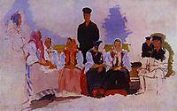 Sunday in the Village, Study, 1892, ryabushkin