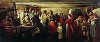 Village Wedding in the Tambov Province, 1880, ryabushkin