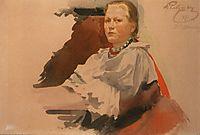 Woman in Novgorod Peasant Dress, 1901, ryabushkin