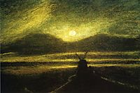 The Old Mill by Moonlight, 1885, ryder