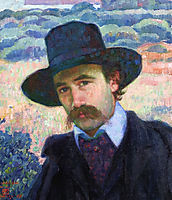 Andre Gide at Jersey, 1907, rysselberghe