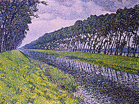 Canal in Flanders, 1894, rysselberghe