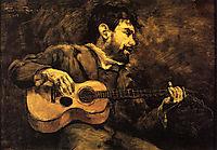 Dario de Regoyos Playing the Guitar, 1882, rysselberghe