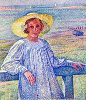 Elisaeth van Rysselberghe in a Straw Hat, 1901, rysselberghe
