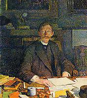 Emile Verhaeren in His Study, c.1892, rysselberghe