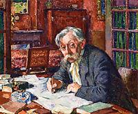 Emile Verhaeren Writing, 1915, rysselberghe