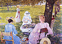 Family in the Orchard, 1890, rysselberghe