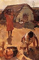 Figures near a Well in Morocco, c.1883, rysselberghe