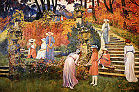 The Garden of Felicien Rops at Essone, 1910, rysselberghe
