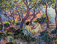 In the Shade of the Pines, 1905, rysselberghe