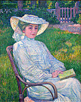 Lady in White, Portrait of Mrs. Théo Van Rysselberghe, rysselberghe
