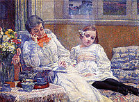 Madame Theo van Rysselberghe and Her Daughter, 1899, rysselberghe