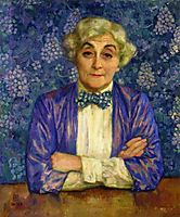 Madame van Rysselberghe in a Chedkered Bow Tie, 1918, rysselberghe