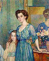 Madame Von Bodenhausen  with her daughter Luli, 1910, rysselberghe