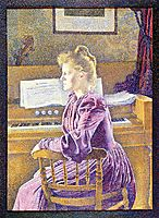 Maria Sethe at the Harmonium, 1891, rysselberghe