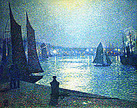 Moonlight Night in Boulogne, rysselberghe