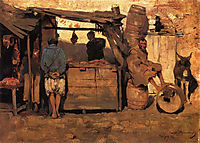 Moroccan Butcher Shop, 1882, rysselberghe
