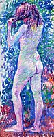 Nude from Behind, Fixing Her Hair, rysselberghe