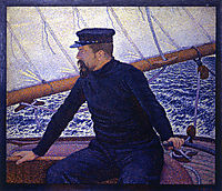 Paul Signac at the Helm of Olympia, 1896, rysselberghe