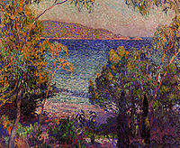 Pines and Eucalyptus at Cavelieri, 1905, rysselberghe