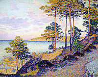 The Pointe St. Pierre at St. Tropez, 1896, rysselberghe