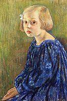 Portrait of Elizabeth van Rysselberghe, 1896, rysselberghe