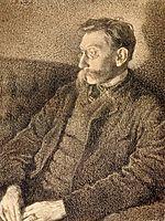 Portrait of Emile Verhaeren, 1892, rysselberghe