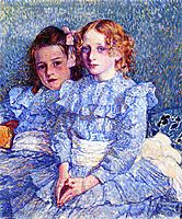 Portrait of Helene and Michette Guinotte, 1901, rysselberghe