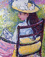 Portrait of Jeanne Pissarro, 1895, rysselberghe