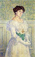 Portrait of Laure Fle, 1898, rysselberghe