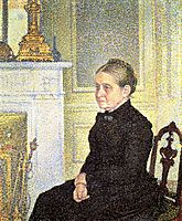 Portrait of Madame Charles Maus, 1890, rysselberghe