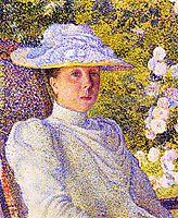 Portrait of Mathilde Vereeken, 1891, rysselberghe