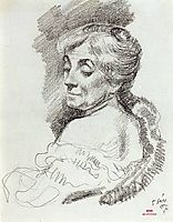 Portrait of Mme Van Rysselberghe, 1907, rysselberghe
