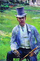 Portrait of Octave Maus as Dandy, 1885, rysselberghe