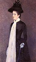Portrait of a Woman in Black, c.1887, rysselberghe