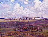 The Race Track at Boulogne sur Mer, 1900, rysselberghe