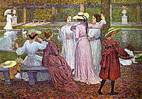 A Reading in the Garden, 1902, rysselberghe
