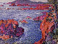 Rocks at Antheor, 1906, rysselberghe