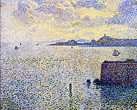 Sailboats and Estuary, 1892, rysselberghe