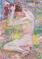 Seated nude, 1905, rysselberghe