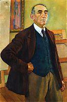 Self Portrait in a Green Waistcoat, 1924, rysselberghe