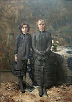 The Sisters of the Painter Schlobach, 1884, rysselberghe