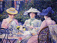Summer Afternoon (Tea in the Garden), 1901, rysselberghe