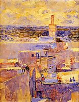 View of Meknes, Morocco, c.1888, rysselberghe