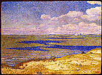 View of the River Scheldt, 1893, rysselberghe
